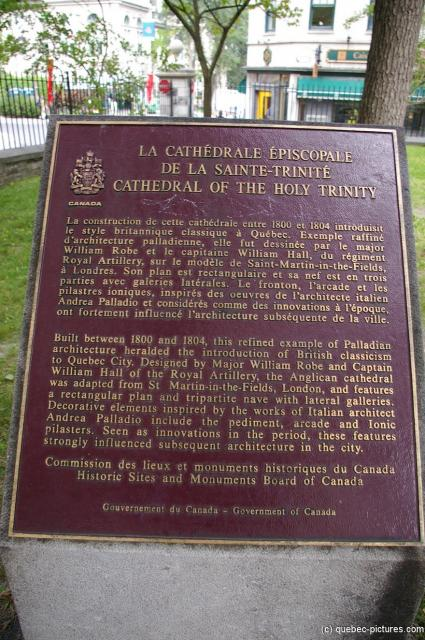 Cathedral of the Holy Trinity sign in Quebec City.jpg