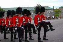 Changing of the Guard Marching officers at La Citadel in Quebec.jpg