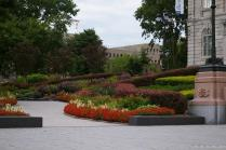 Colorful flowers and foliage next to the Quebec Parliament Building.jpg
