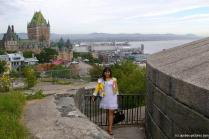 Joann at La Citadel with Quebec old city center in the background.jpg