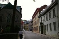 Looking down the street from the Holy Trinity Cathedral in Quebec City.jpg