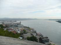 River cruise boats and harbor viewed from La Citadel in Quebec.jpg
