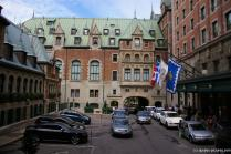 Inner Courtyard and an entrance to the Fairmont Château Frontenac Hotel in Quebec City.jpg