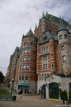 One side of the Fairmont Le Château Frontenac hotel in Old Quebec City.jpg